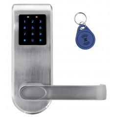 """SZYLD Z KONTROLĄ DOSTĘPU """"EURA"""" ELH-82B9 SILVER z klawiaturą dotykową, sterowaniem SMS, czytnikiem Mifare, modułem Bluetooth i u"""