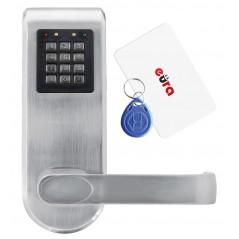 Szyld z kontrolą dostępu Eura ELH-72B9 SILVER z czytnikiem RFID i szyfratorem, uniwersalny rozstaw śrub mocujących