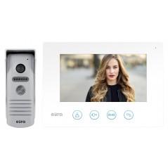"""Wideodomofon WiFi """"EURA"""" VDP-40A3 FENIKS BIAŁY ekran 7"""", otwieranie 2 wejść, aplikacja Eura Connect"""