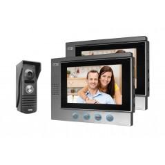 ZESTAW Wideodomofonowy NEPTUN z dwoma monitorami