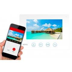 WIDEODOMOFON Eura feniks 81 biały aplikacja WiFi