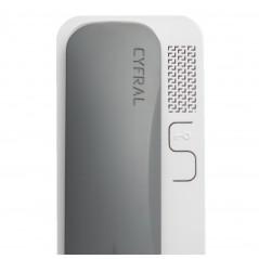Unifon / Słuchawka ''CYFRAL'' SMART SZARO-BIAŁY do domofonów analogowych