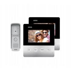 ZESTAW Wideodomofon EURA VDP-19A3 HELIOS z dwoma monitorami i IP-Boxem