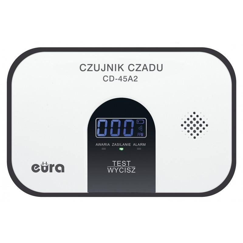 Czujnik czadu ''Eura'' CD-45A2 – 5 lat gwarancji, wyświetlacz LCD, wolnostojący