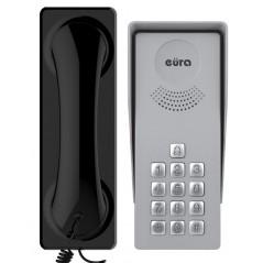 """Domofon Eura ADP-37A3 """"INGRESSO NERO"""" - 1-rodzinny, kaseta zewnętrzna z szyfratorem"""