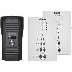 """DOMOFON """"EURA"""" ADP-51A3 """"DIFESA"""" - 1-rodzinny, 2 unifony, interkom, biały"""