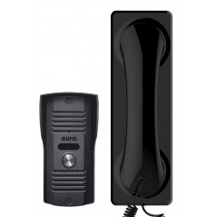"""Domofon Eura ADP-23A3 """"FLUMINO"""" CZARNY - 1 rodzinny, magnetyczny unifon, mała kaseta zewnętrzna"""