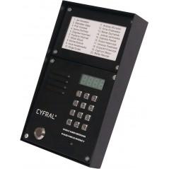 """ZESTAW CYFROWY """"CYFRAL"""" Z-2000PN CZARNY LM-PN (panel PC-2000D + ramka N/T + lista lokatorów LM-1000)"""