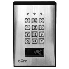 Zamek szyfrowy Eura AC-17A1 - 2 wyjścia, karta zbliżeniowa, natynk, Wiegand, przycisk dzwonka