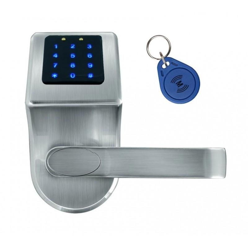 """SZYLD Z KONTROLĄ DOSTĘPU """"EURA"""" ELH-80B9 SILVER z klawiaturą dotykową, sterowaniem SMS, czytnikiem Mifare, modułem Bluetooth i u"""