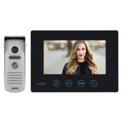 """Wideodomofon WiFi """"EURA"""" VDP-40A3 FENIKS CZARNY ekran 7"""", otwieranie 2 wejść, aplikacja Eura Connect"""